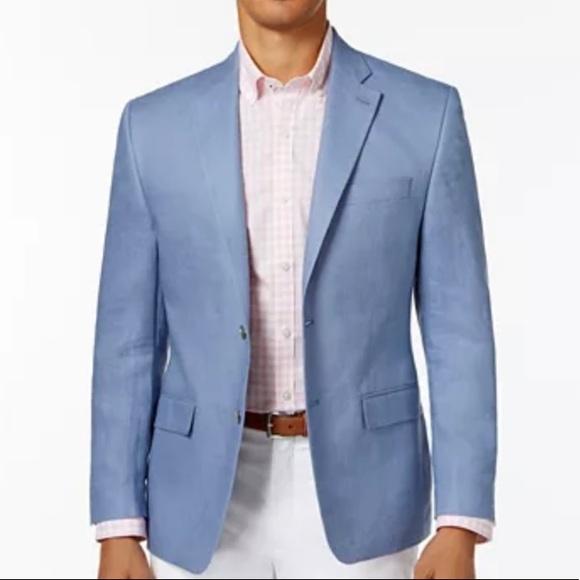 NWOT LAUREN Blue Linen Blazer